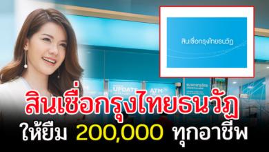 Photo of กรุงไทยใหม่  สินเชื่อกรุงไทยธนวัฏ 200,000 บาท ทุกอาชีพ